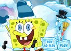 海綿寶寶海底玩雪